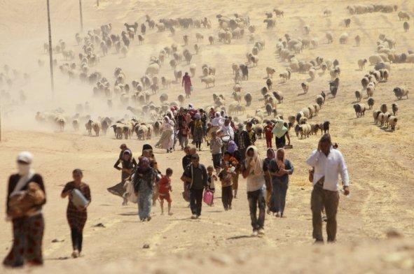 Yazidis flee ISIS