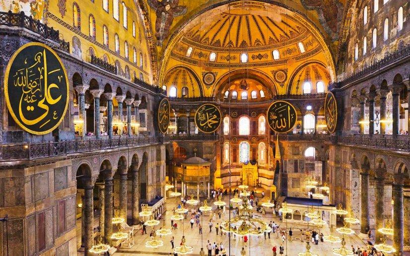 Turkey, Istanbul, Haghia Sophia Mosque interior