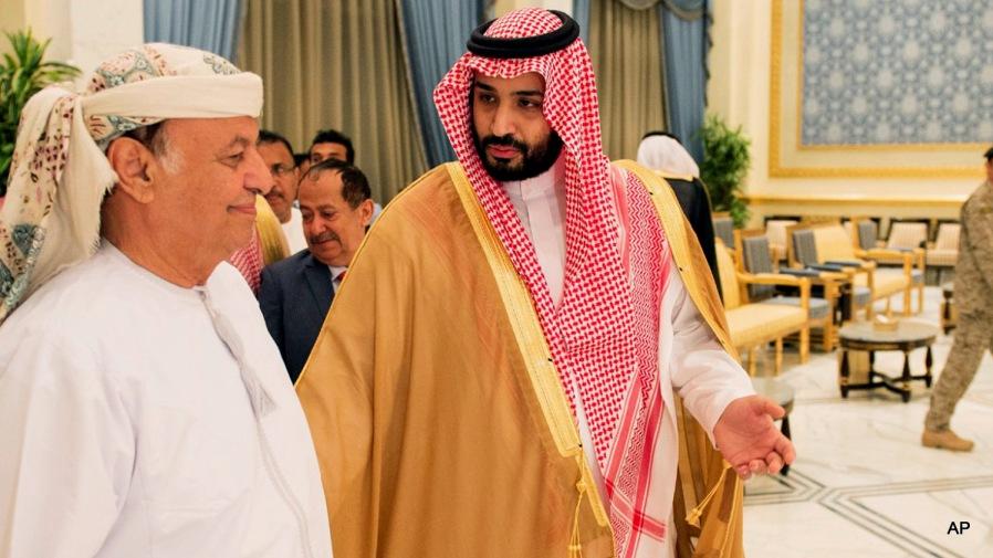 Abed Rabbo Mansour Hadi, Mohammed bin Salman