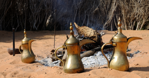 Bedouin Arabic coffee desert