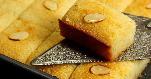 Basbousa semolina cake