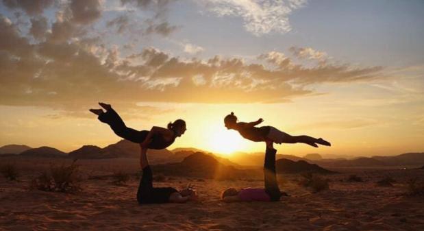 desert acro yoga jordan